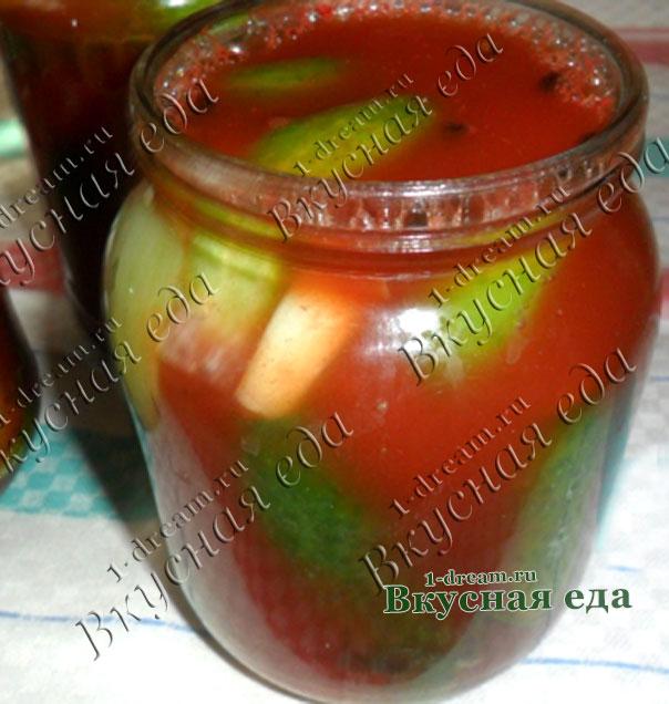 Огурцы в томатном соке на зиму