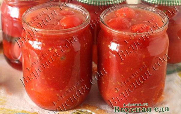 Залить соком помидоры