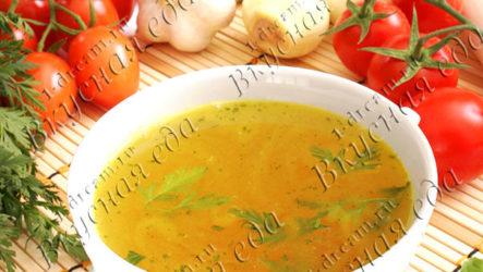 Овощной бульон-рецепт с фото