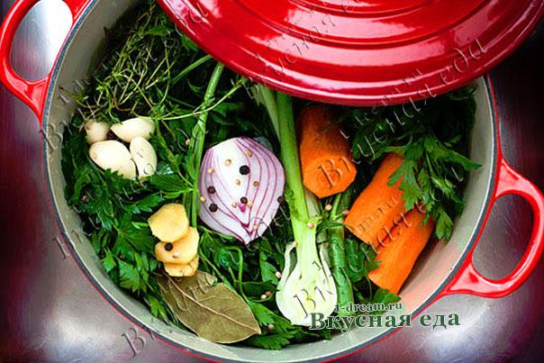 Пряный овощной бульон