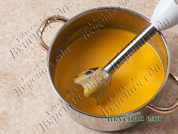 Пюре из супа из тыквы