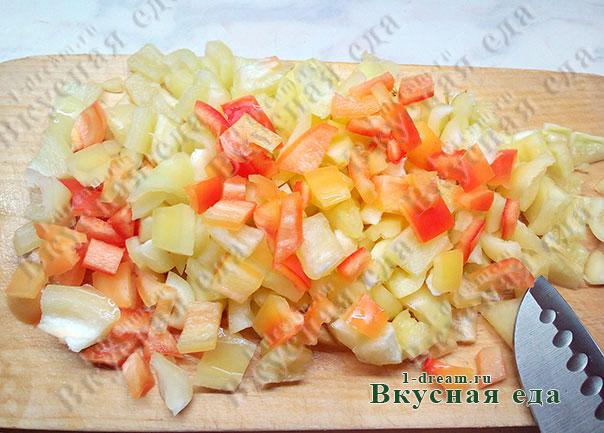 Болгарский перец пошинковать