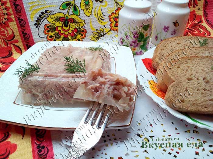 Рецепт куриного холодца со свининой