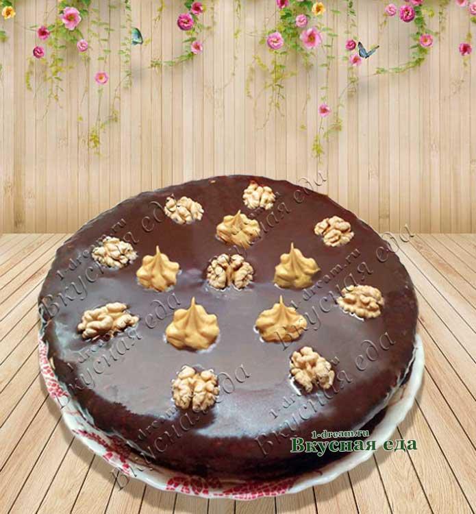 Рецепт бисквитного торта с шоколадной глазурью