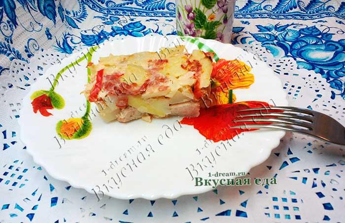 Рецепт запеканкт из картофеля и мяса в духовке