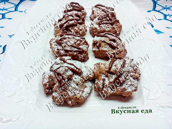 Рецепт шоколадного печенья с орехами к чаю