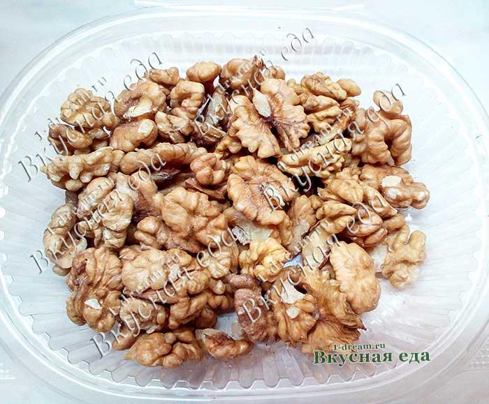 Грецкие орехи для шоколадного печенья