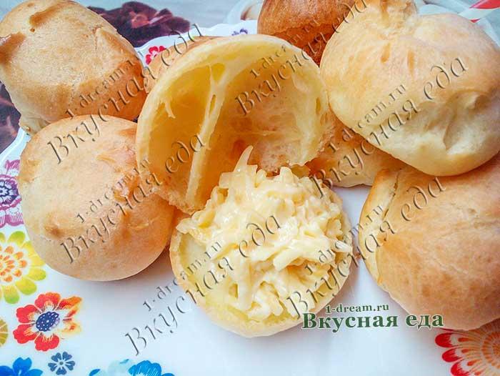 Профитроли с сырной начинкой готовы