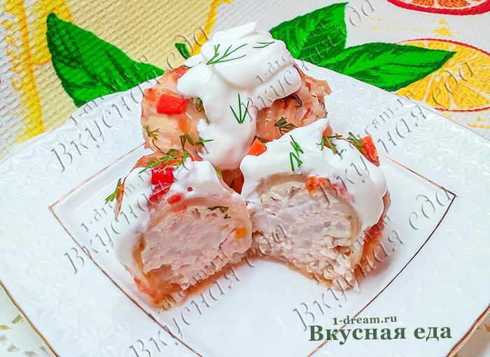 Голубцы из пекинской капусты с куриным фаршем-рецепт с фото