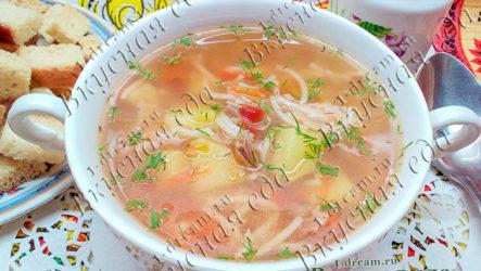 Куриный суп с лечо