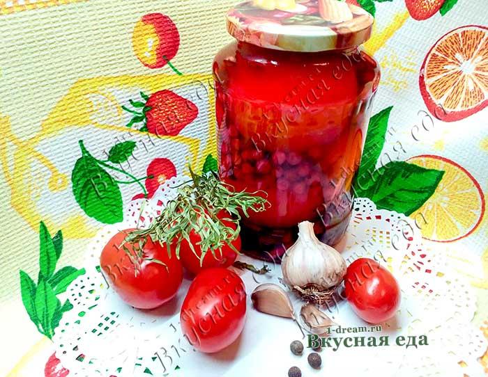 Маринованные помидоры с красной смородины