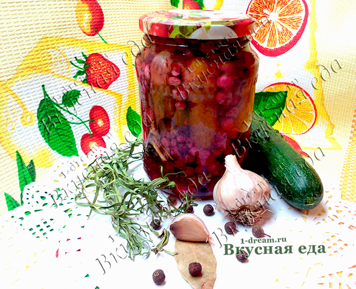 Огурцы маринованный с красной смородиной на зиму- без уксуса