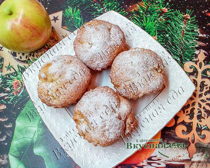 Кекс с яблоками - рецепт с фото