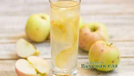 Яблочный компот -рецепт с фото