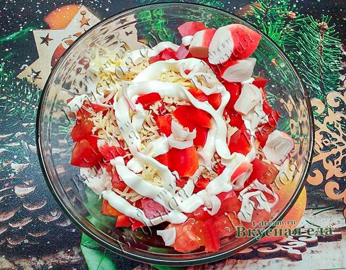 Салат Красное море с крабовым мясом