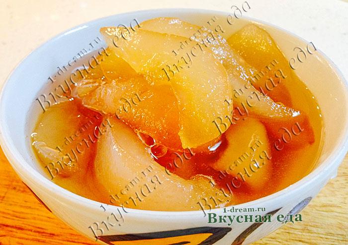 Варенье из груш дольками на зиму- рецепт с фото