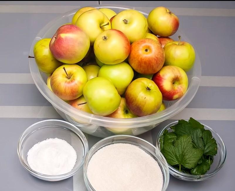 Продукты для квашения яблок