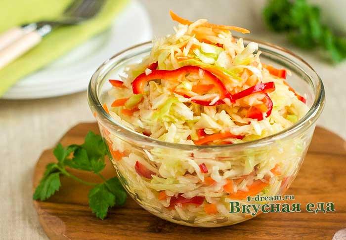 Быстрая маринованная капуста-рецепты с фото