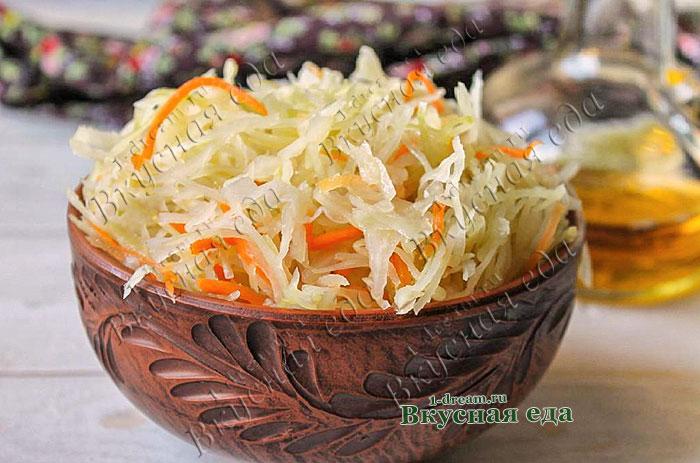 Быстрая маринованная капуста-рецепт с фото