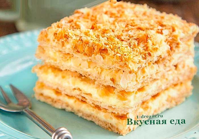 Торт Наполеон-классический рецепт с фото