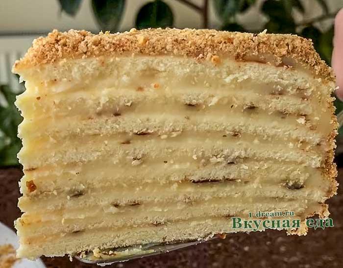 Вкусный торт на сковороде -рецепт с фото