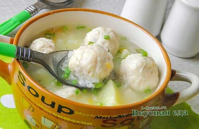 Суп с куриными фрикадельками-рецепт с фото