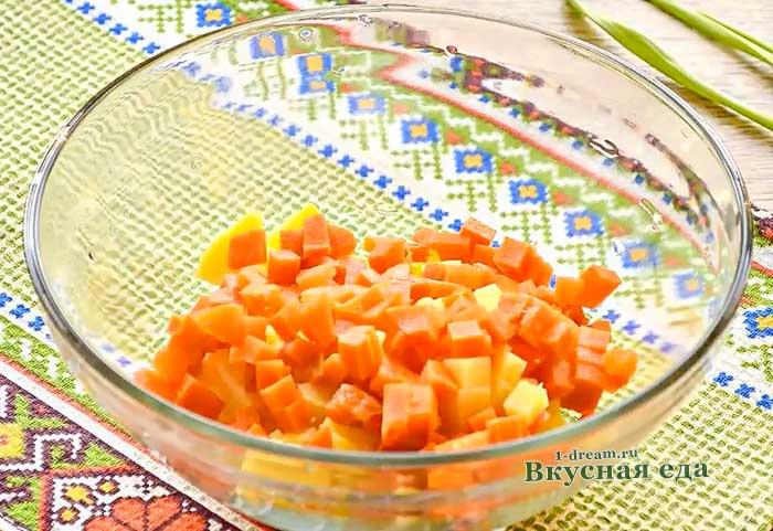 Морковь нашинковать