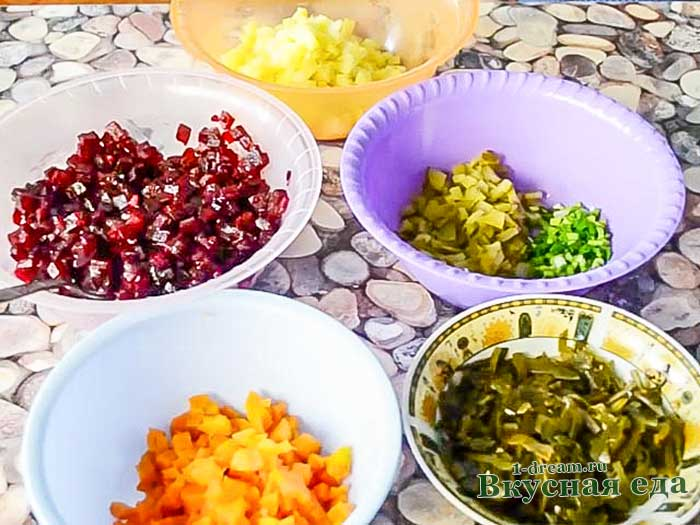Нашинковать овощи