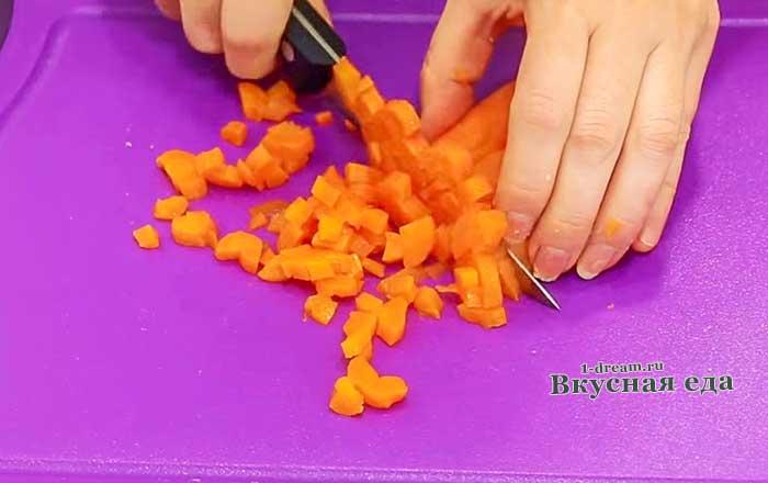 Нашинковать морковь для винегрета