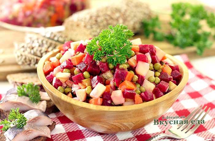 Винегрет - простой рецепт с фото пошагово
