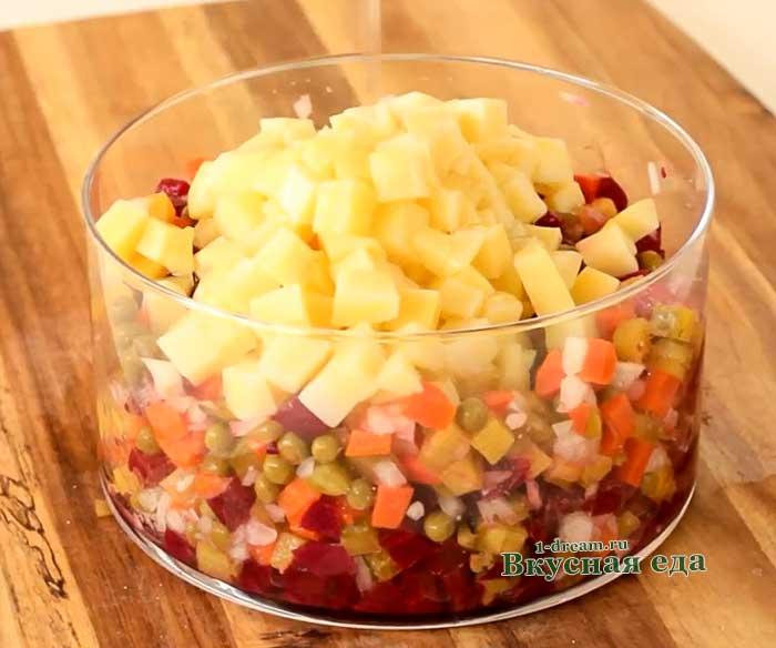 Картофель положить в винегрет