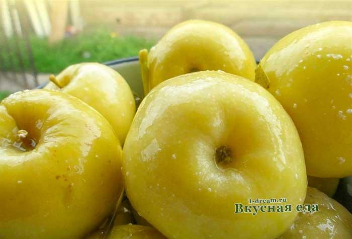 Яблоки моченые -рецепты с фото