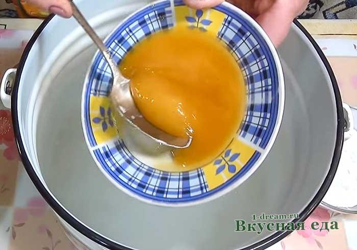 Добавить мед в заливку