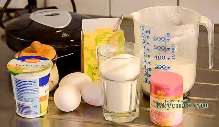 Мягкие вафли-рецепт с пошаговыми фото