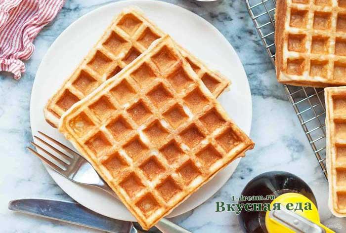 Вафли на дрожжах и молоке- рецепт с фото