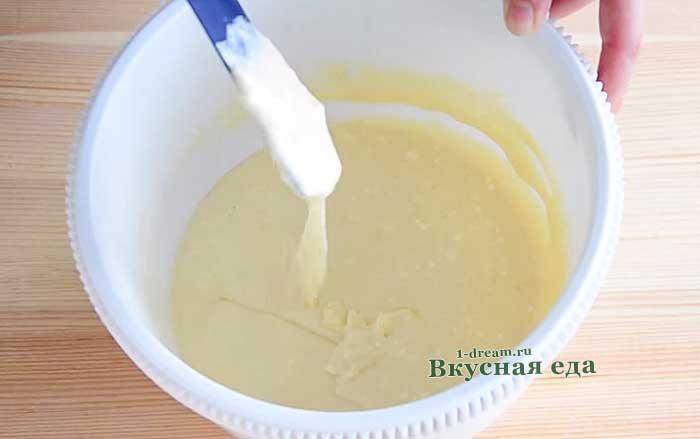 Тесто для пышных творожных вафель