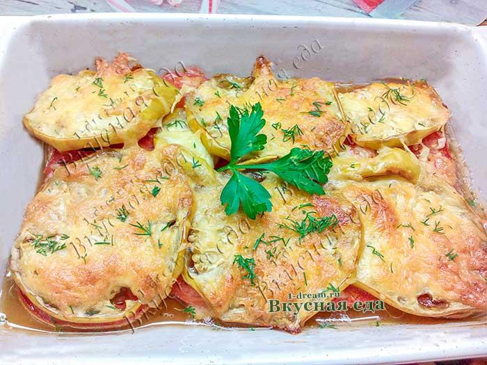 Запеканка из баклажанов в духовке - рецепт с фото