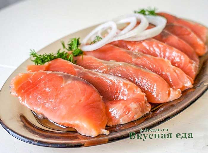 Сочная горбуша соленая сухим способом-рецепт