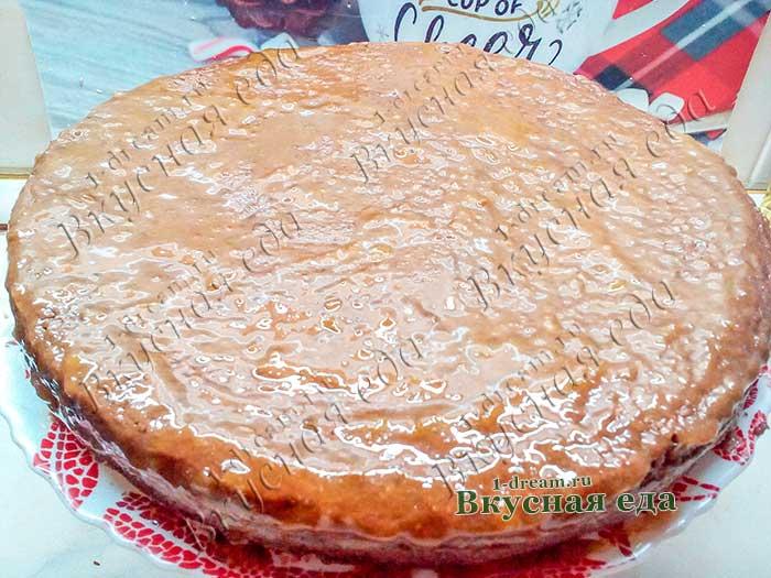 Торт в абрикосовом джеме