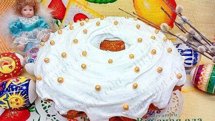 Глазурь для пасхального кулича-7 простых рецептов