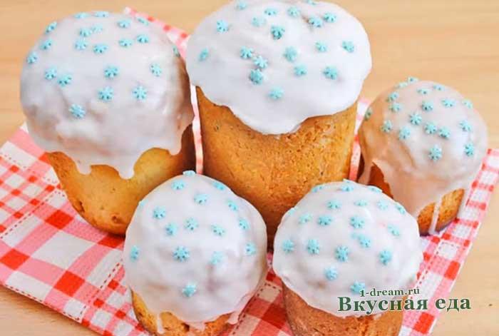 Сахарная помадка для куличей и булочек- рецепт с фото