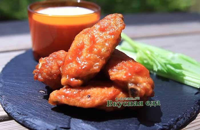 Крылышки Баффало- рецепт с фото