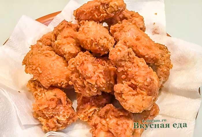 Куриные крылышки KFC-домашний рецепт с фото