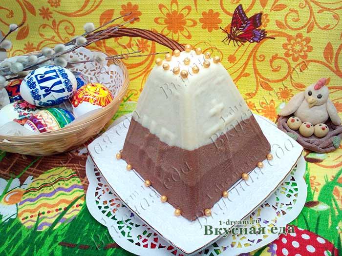 Вкусная шоколадная пасха- рецепт по шагам