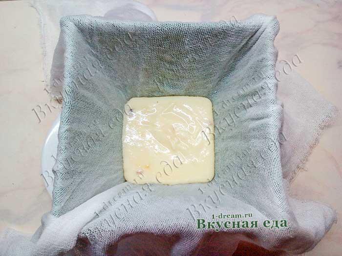 Белый шоколадный слой