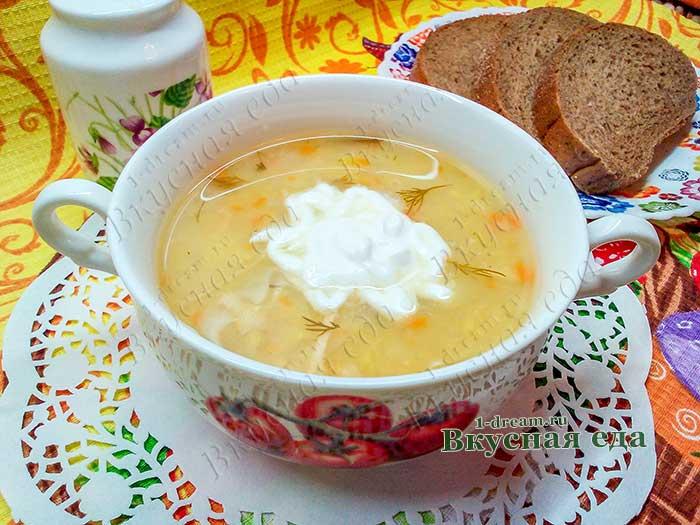 Суп из красной чечевицы с курицей-рецепт с фото