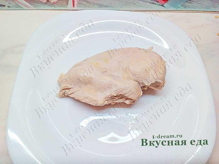 Куриное мясо из бульона