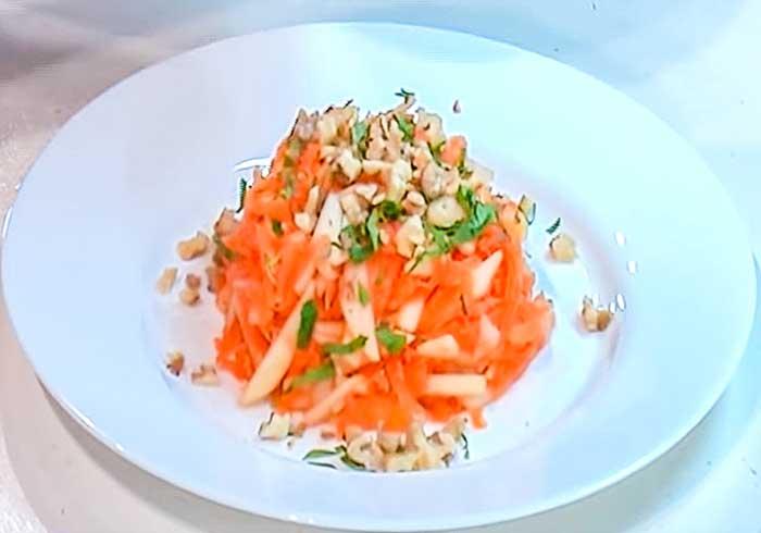 Салат с морковью и яблоками-рецепт с фото