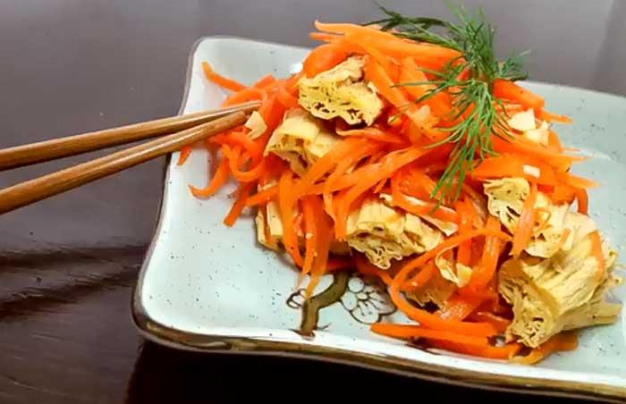 Салат из моркови и спаржи по-корейски с фото рецепт