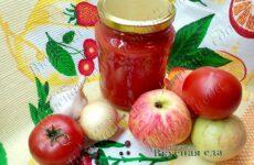 Томатный кетчуп из помидоров с яблоками